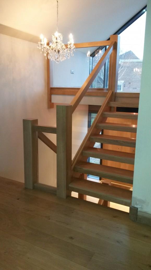 Nick Smith Joinery European Oak Open Tread Stair